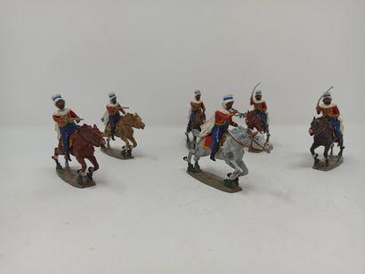 CBG : Six Cavaliers Spahis à la charge, dont...
