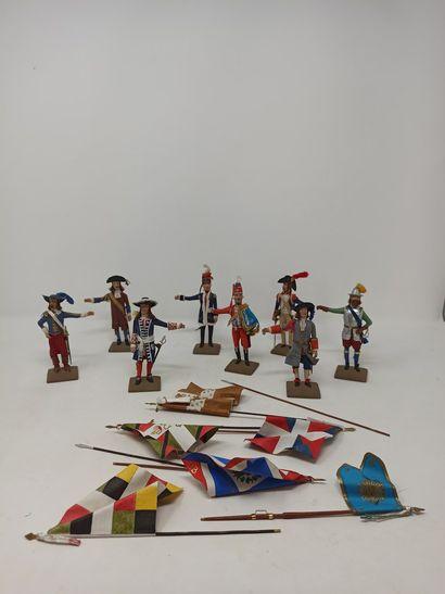Jacques BEAUFILS (années 50) : Huit figurines...