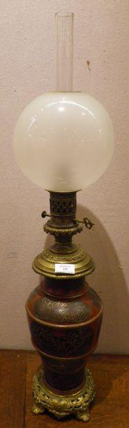 Lampe à pétrole d'époque Napoléon III, en...