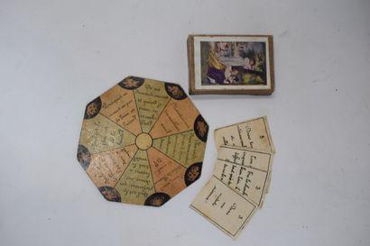 Le Petit Chien Savant : jeu divinatoire Questions/Réponses, circa 1900. Coffret...