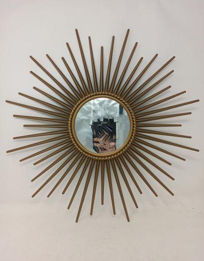 CHATY miroir soleil à glace centrale plate...