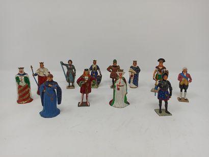 Gustave VERTUNNI : Douze figurines de l'histoire...
