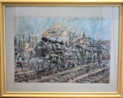 JOLIFIE CONIN (1929-2013)  Locomotive 241,...