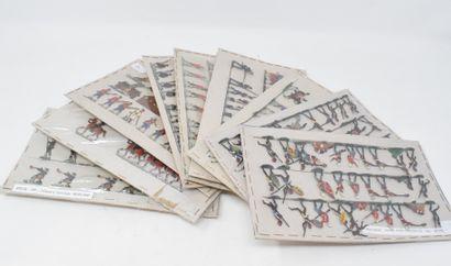 HEINRICHSEN - ALLGEYER : Plats d'Etain : Dix-neuf planches constituées avec guerres...