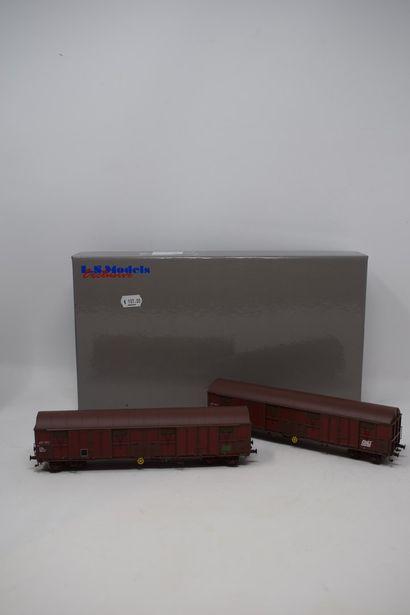 LS MODELS : Coffret wagons BRASSEUR KRONENBOURG, réf. 30668 - Coffret wagons couverts...