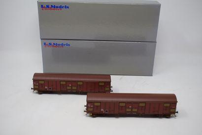 EPM PRODUCTIONS - LS MODELS : Motrice de manoeuvre SNCF Y 6453 - wagon couvert UIC,...