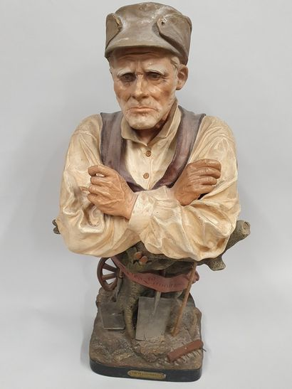 LE GULUCHE Joseph (1849-1915)  Le vieux laboureur...