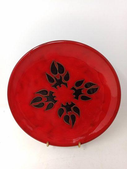 PERROT René (1912-1979)  Assiette en céramique...