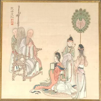 CHINE - XIXe siècle  Page d'album
