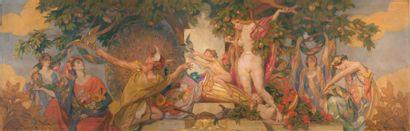 VICTOR PROUVÉ 1858 - 1943 LE TRIOMPHE DE MONSIEUR CORBIN, 1927 peinture sur toile,...