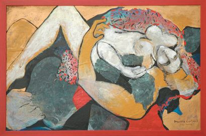 CARTIANT Marina Harmonie Technique mixte. Signée en bas à droite. 100 x 80 cm. Reproduction...