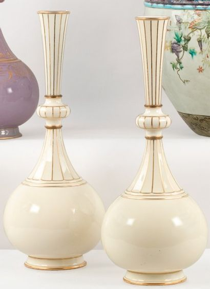 SEVRES, manufacture nationale. Paire de vases...