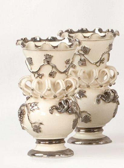LANGEAIS, Charles de BOISSIMON Paire de vases...