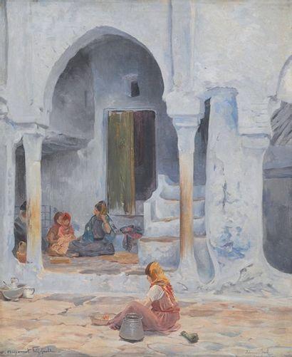 Intérieur juif, Constantine Huile sur toile,...