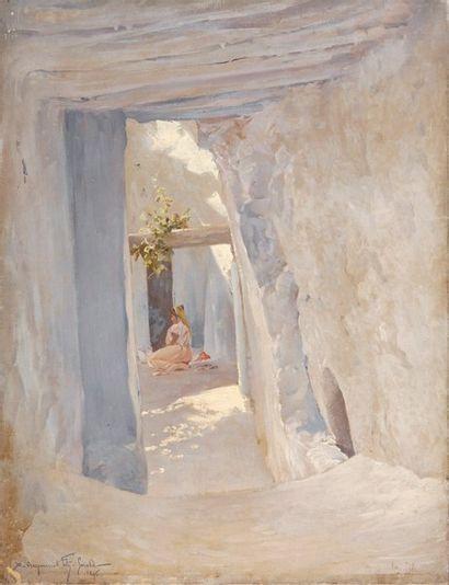 Orientale dans une ruelle ensoleillée, 1896,...