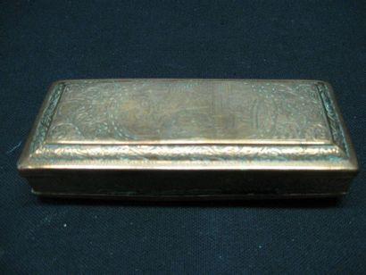 Boîte à tabac en cuivre du XVIIIe siècle,...