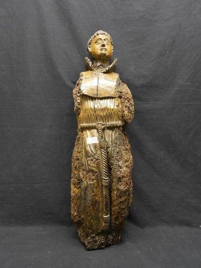 Sculpture en bois sculpté représentant un...