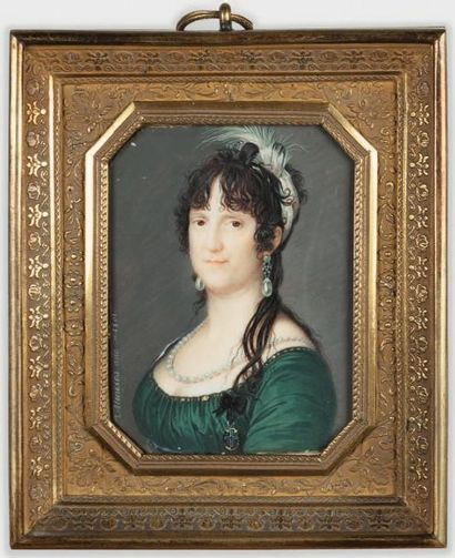 José DELGADO Y MENESES (1775 -1885) Portrait de Louise-Marie de BOURBON-PARME, reine...