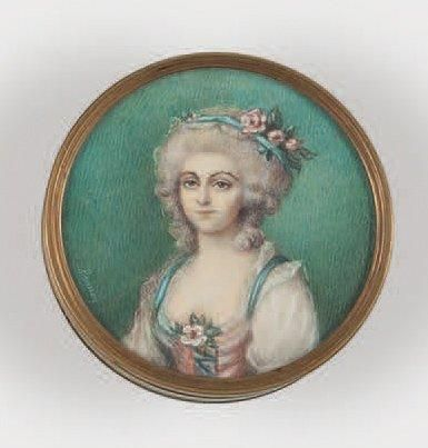 École FRANÇAISE (Dans le Goût de la seconde moitié du XVIIIe siècle) Portrait de...