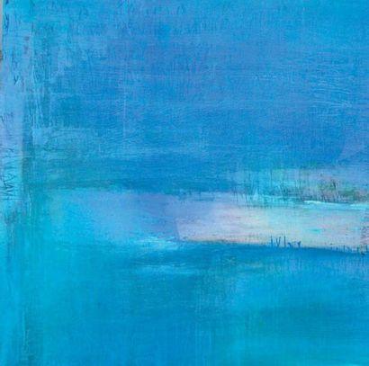 BANNEVILLE Caty, née en 1952 L'eau qui dort n'a plus sommeil Encres et pigments sur...