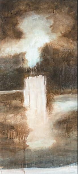 BASSOT Sophie, née en 1970 Wild Brown Pigments sur toile, signée au dos, 125 x 69...