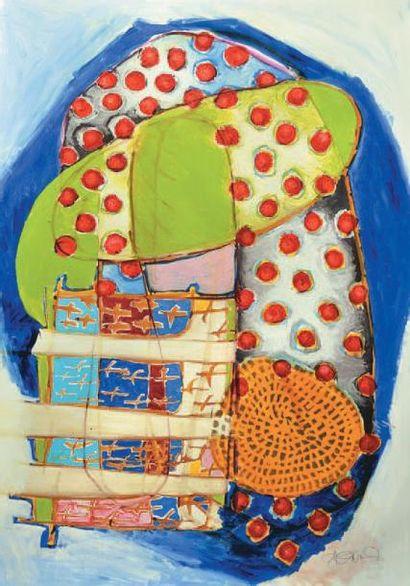 BONARD Mireille, née en 1952 L'Arche Technique mixte sur papier, signé en bas à droite,...