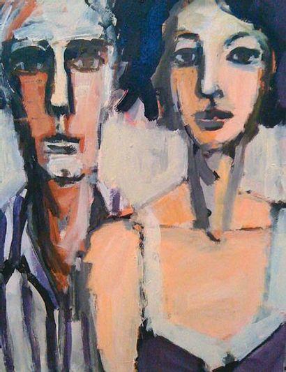 AKAR Alexandre, né en 1961 Just Married Acrylique sur toile, signée en bas à droite,...