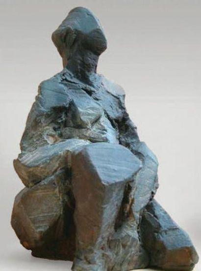 CHOPPINET Véronique, née en 1946 Au soleil, 7 /8 Sculpture en bronze, signée, Haut.:...