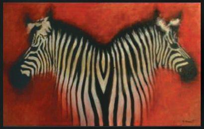 DAWINT Daniel, né en 1947 Les jumeaux Huile sur toile, signée en bas à droite, 73...