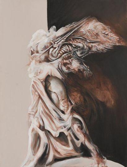 SALANIÉ Victoire de Samothrace Acrylique sur toile signée en bas à droite, datée,...