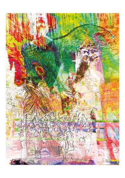 SÉDÉ  Samothrace digraphie sur dibond 1/1, signée au dos, 80 x 60 cm