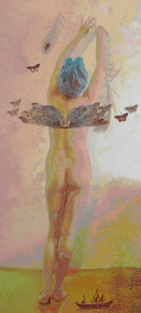 SPY Hélène Victoire, ange en devenir Impression sur dibond, signée en bas à droite,...