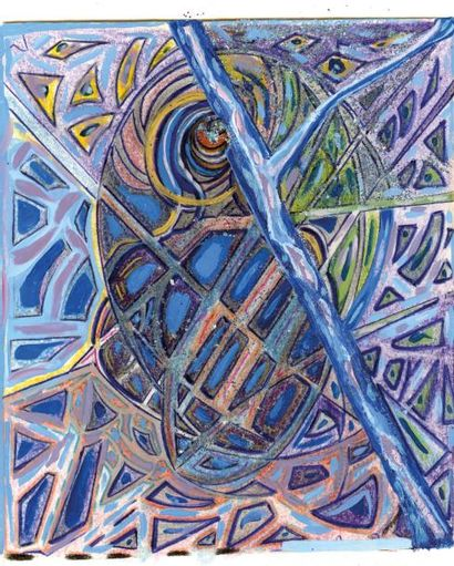 ROMANOFF ASARO Daniela Dimensions d'espace-temps Technique mixte, 38 x 53 cm