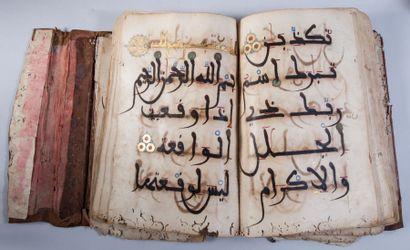 Partie de Coran, Maghreb, XIVe- XVe siècle...