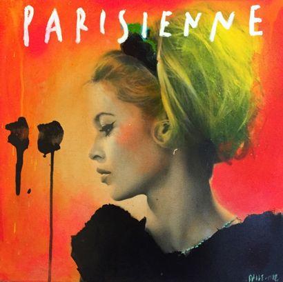 Parisienne, 2015 Photopainting sur toile,...