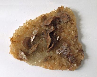 Lot de deux minéraux de l'Isère, France:...