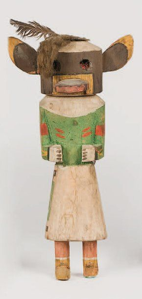Kachina OGRE HOPI (Arizona), circa 1960 (cassures...