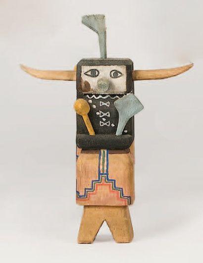 Kachina OGRE NOIR HOPI (Arizona), circa 1970...