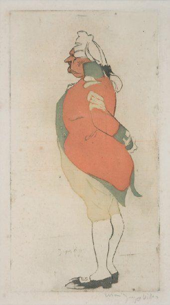 JACQUES VILLON Major anglais 1900, (C. de Ginestet et C.Pouillon E 50) 23 x 12 cm....