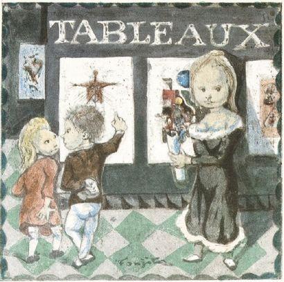 FOUJITA La Mésangère Préface de Jean Cocteau illustré par FOUJITA. Edité par P. deTartas,...