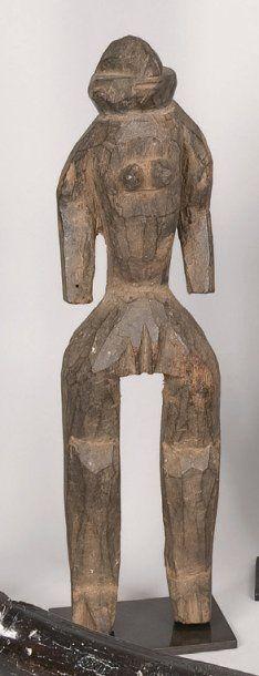 Statuette en bois. Chamba, Nigéria. H.: 37...