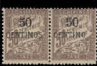 MAROC taxe 4 *, 4A, centimes sans