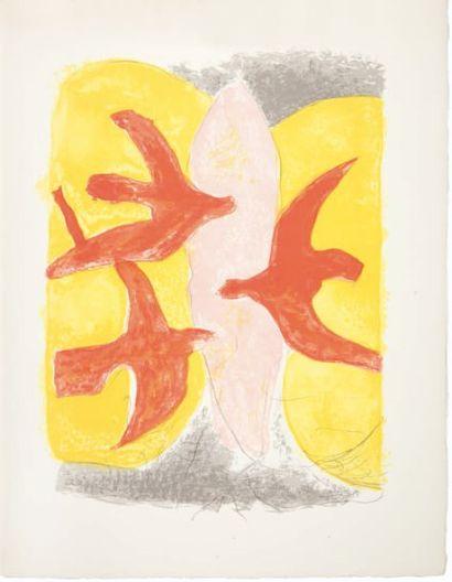 Georges Braque Descente aux enfers -Marcel Jouhandeau. Quatre lithographies originales...