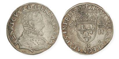 IDEM. Teston du 2e type, 1554 Lyon. Dy 983...