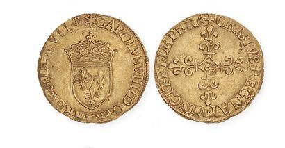 IDEM. Ecu d'or au soleil, 1567 Aix. TTB à...