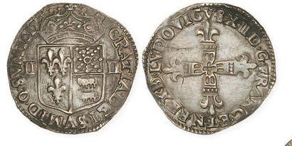 IDEM. Quart d'écu de Navarre-Béarn, 1617....