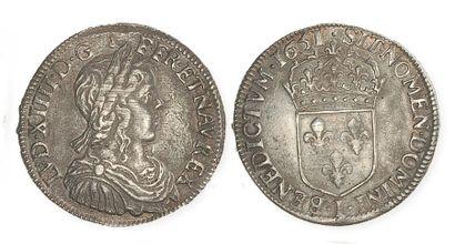 IDEM. Demi écu à la mèche longue, 1651 I,...