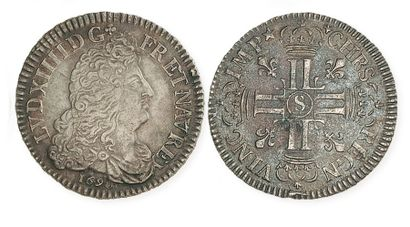 IDEM. Demi écu aux 8 L, 1690 S (Reims, réformation)....