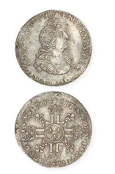 IDEM. 1/12e d'écu aux 8L du 2etype, 1704...