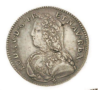IDEM. Demi écu aux branches d'olivier, 1734...